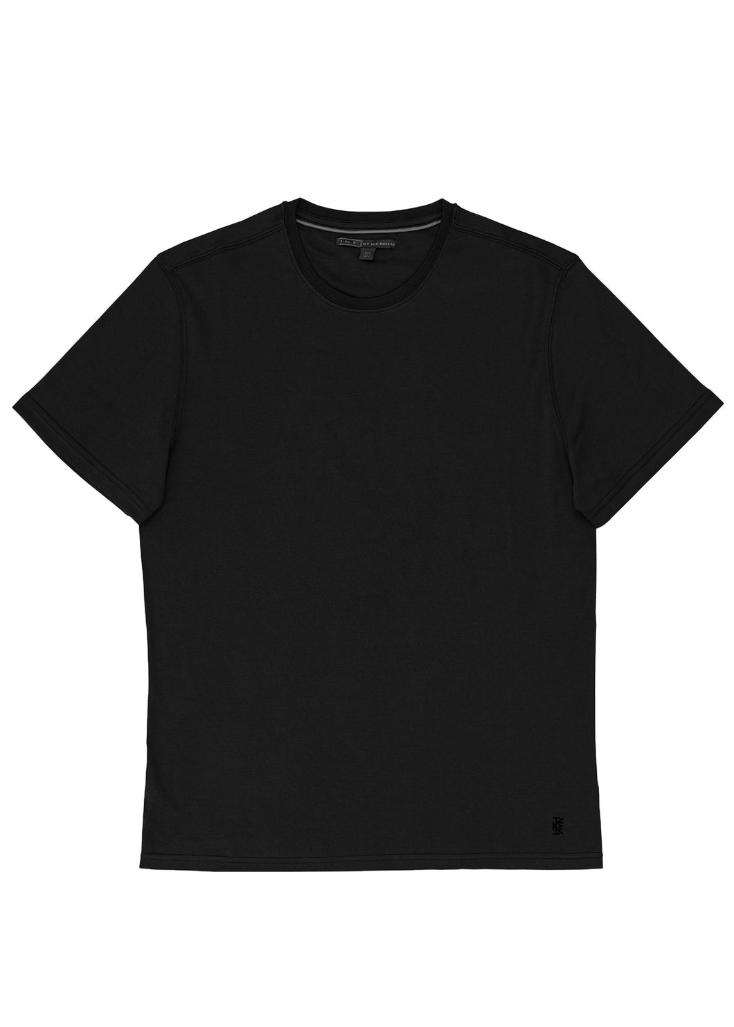 Black Pima Cotton Crew T-Shirt
