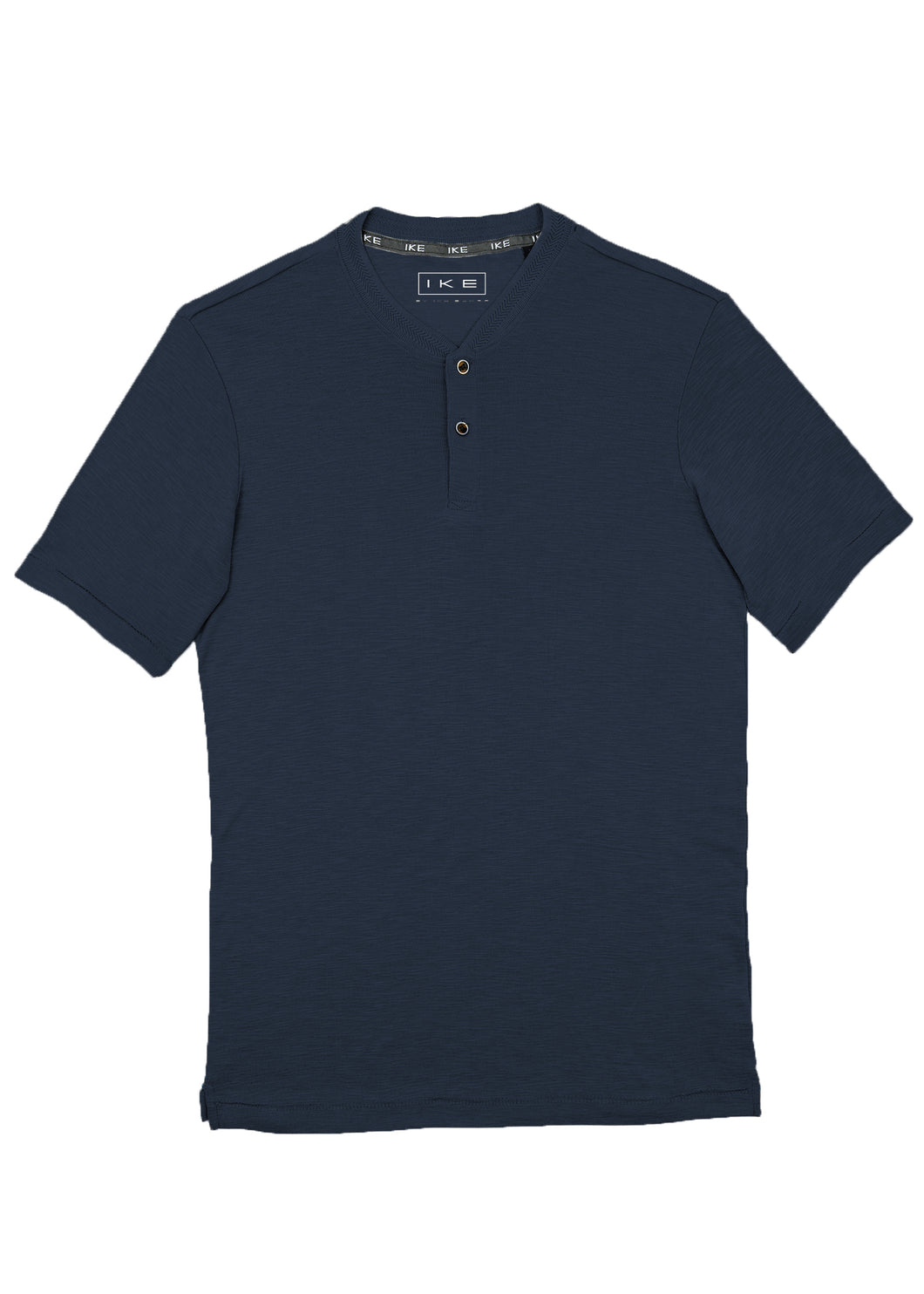Navy Ribbed Neck Henley