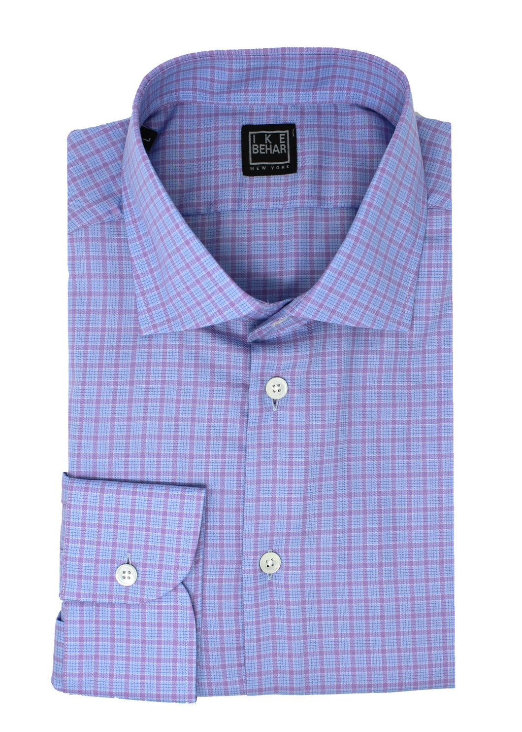 Blue & Pink Multi-Check Sport Shirt