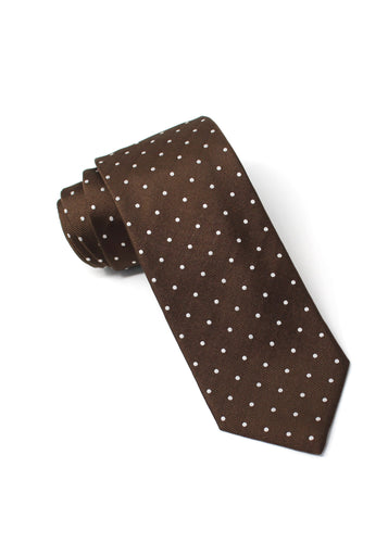 Chocolate Dot Silk Tie
