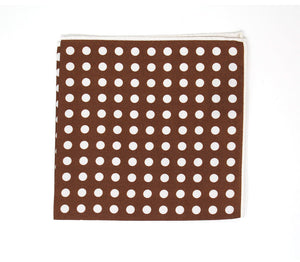 Brown Dot Pocket Square