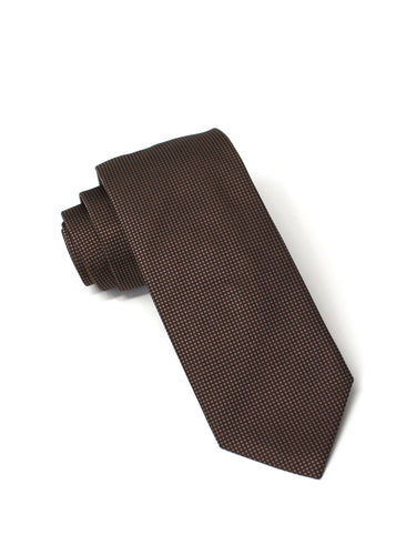 Chocolate Silk Square Weave Tie