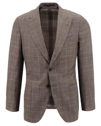 Tan Glen Plaid Sport Coat