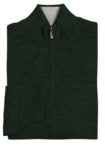 Hunter Green Royal Alpaca 1/2 Zip Sweater