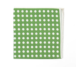 Green Dot Pocket Square