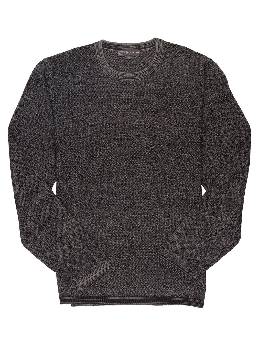 Grey Ike by Ike Behar Cotton Seed Stitched Sweater