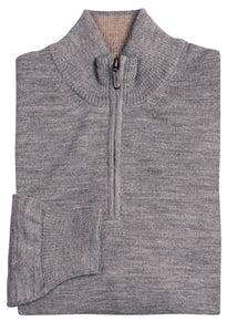 Grey Royal Alpaca 1/4 Zip Sweater