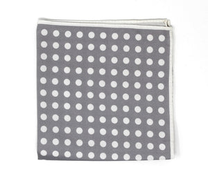 Grey Dot Pocket Square