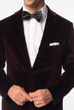 Maroon Paisley Velvet Evening Jacket