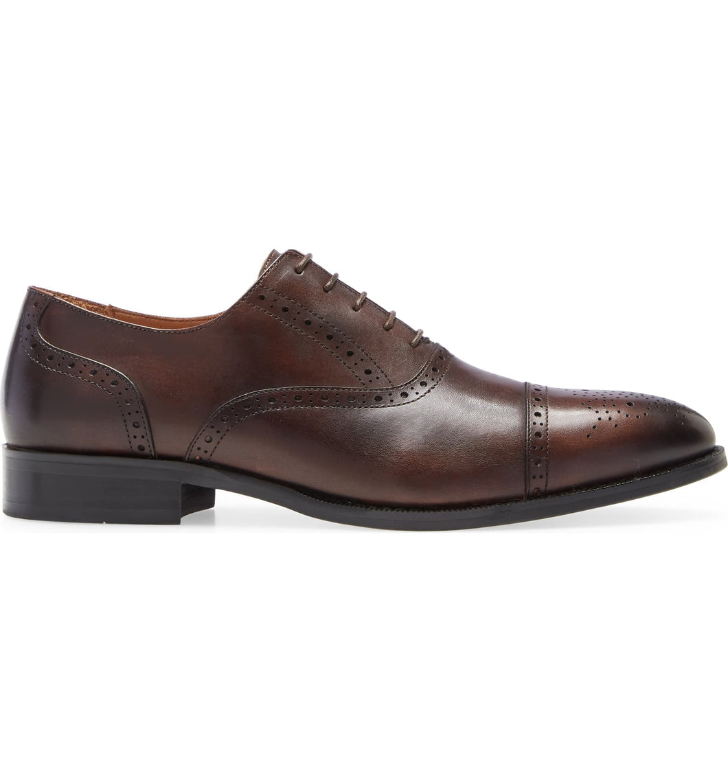Jared Oxford Style Toe Cap Dress Shoe