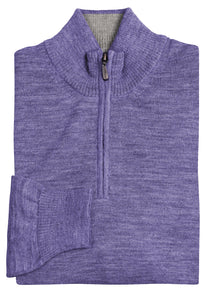 Lilac Royal Alpaca 1/4 Zip Sweater