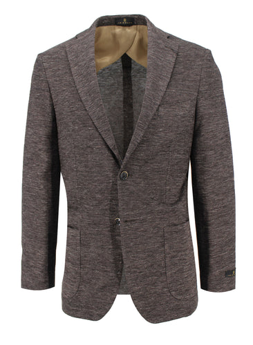 Chocolate Woven Knit Sport Coat
