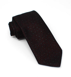 Wine with Tonal Lurex Pin Dot Tie