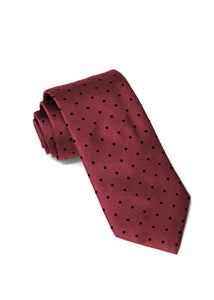 Wine Dot Silk Tie
