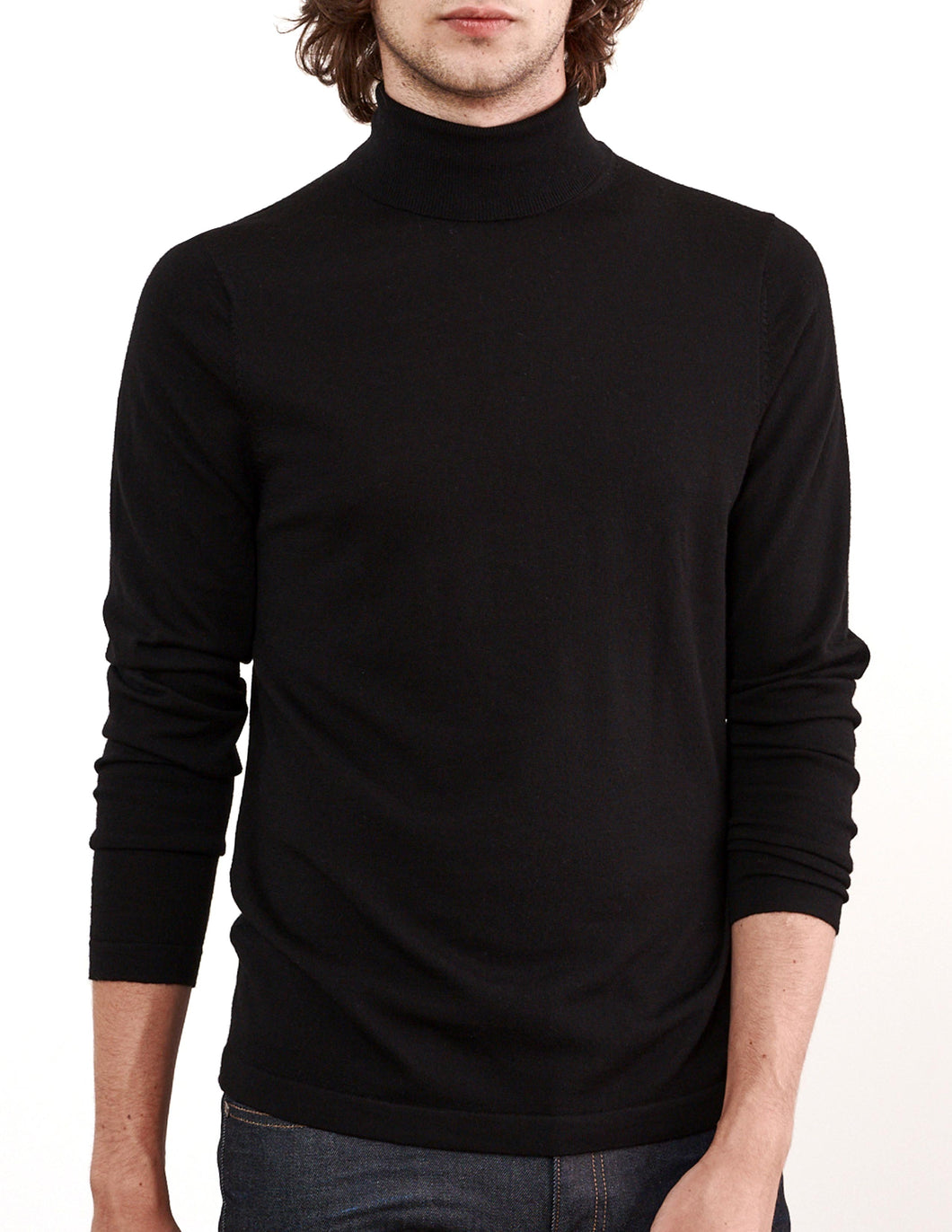 Black Mock Turtleneck Sweater