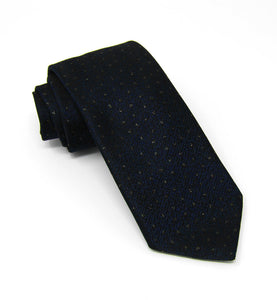 Navy with Tonal Lurex Pin Dot Tie