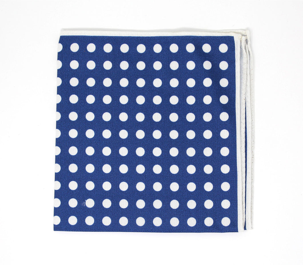 Navy Dot Pocket Square