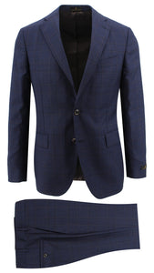 Navy with Rust Window Pane Suit