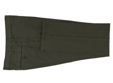 Olive Stretch Cotton Pants