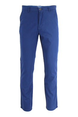 Washed Blue Ike by Ike Behar Stretch Cotton Chino Pants