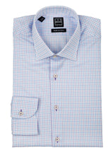 White with Blue/Pink Check Dress Shirt