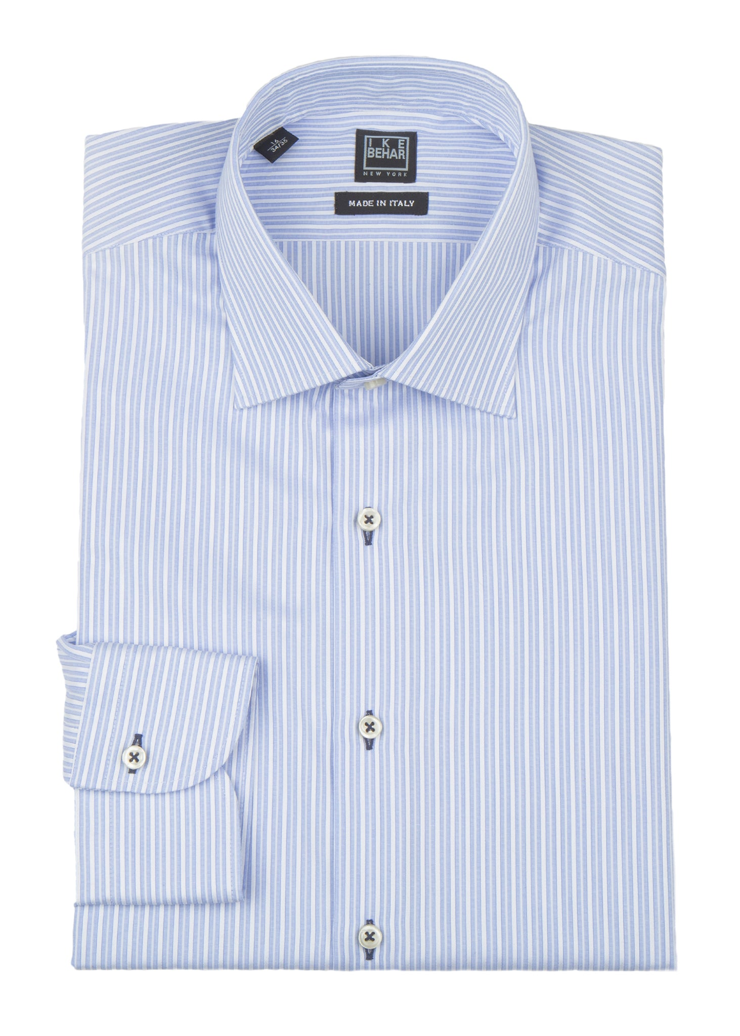 c98d50440fbb4f Blue and White Striped Dress Shirt – Ike Behar