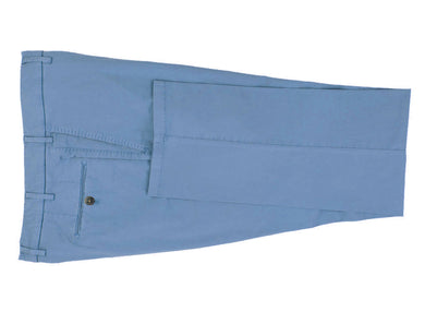 Surf Blue Stretch Cotton Pants