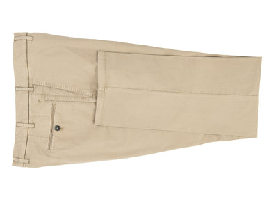Tan Stretch Cotton Pants