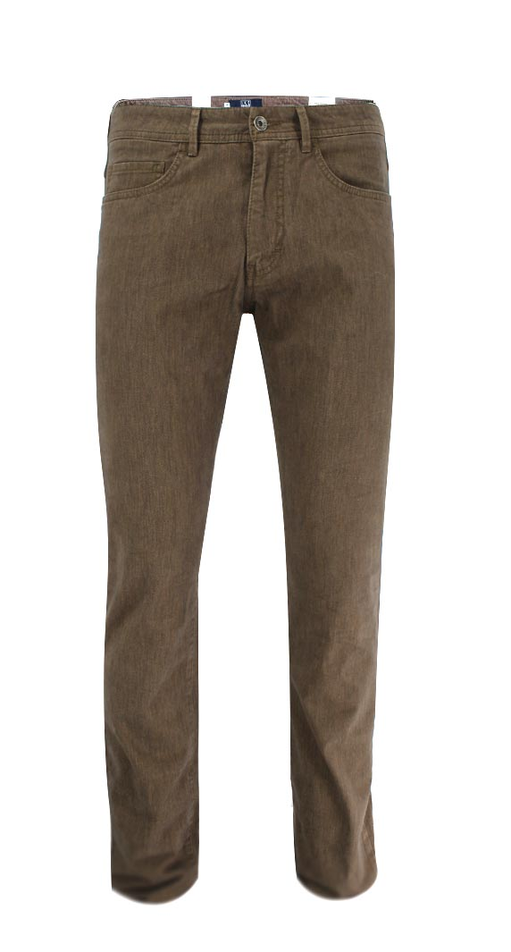 British Tan Pima Stretch Cotton Pant