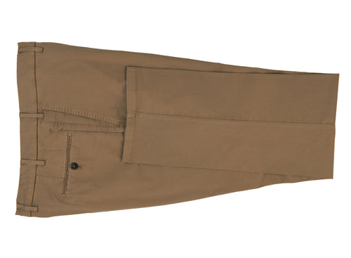Taupe Stretch Cotton Pants