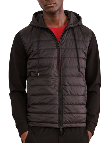 Black Quilted Traveler Hoody