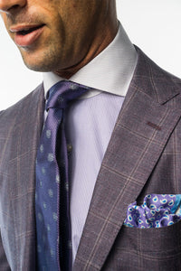 Plum Window Pane Sport Coat