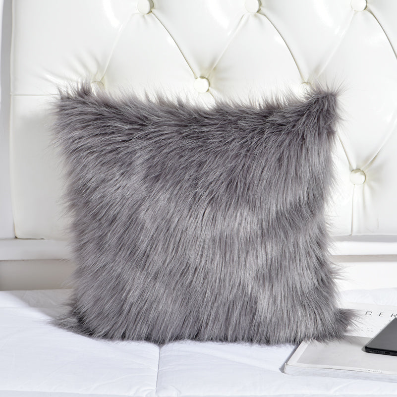 Faux Fur Pillow Cover PEΔCHES CLOTHING CO Extraordinary Faux Sheepskin Pillow Cover
