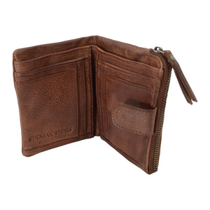 corsica leather wallet sticks and stones mustang