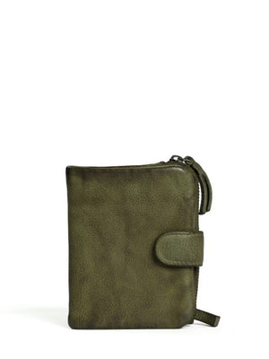 corsica leather wallet sticks and stones olive