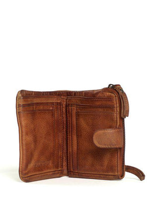 corsica leather wallet sticks and stones cognac