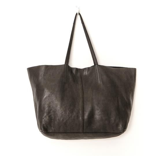 unlined leather tote bag black juju and co