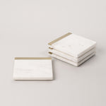 marble coaster brass edge