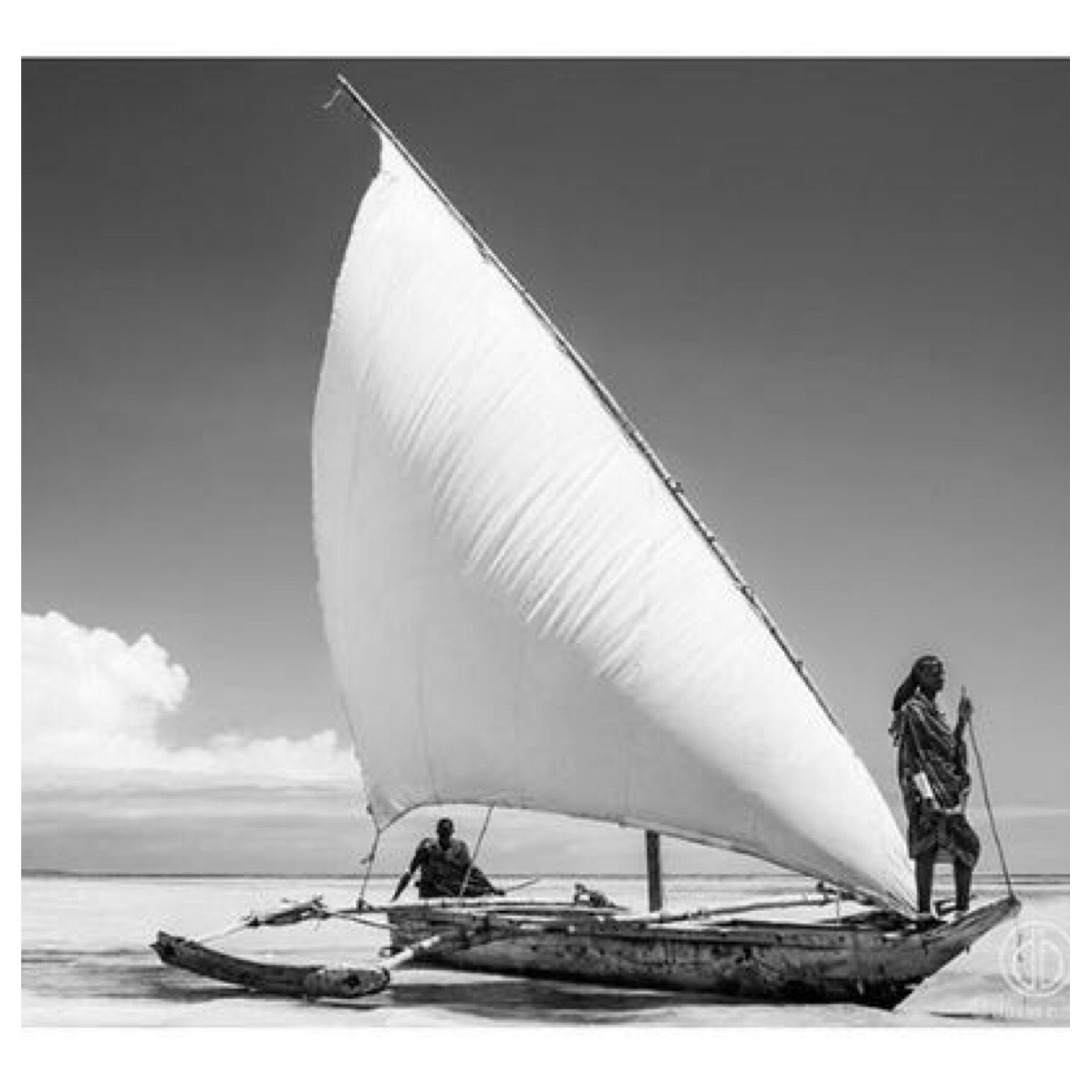 2 masai sailing david ballam artwork print black and white timber frame