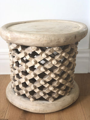 bamileke stool table africa tribal