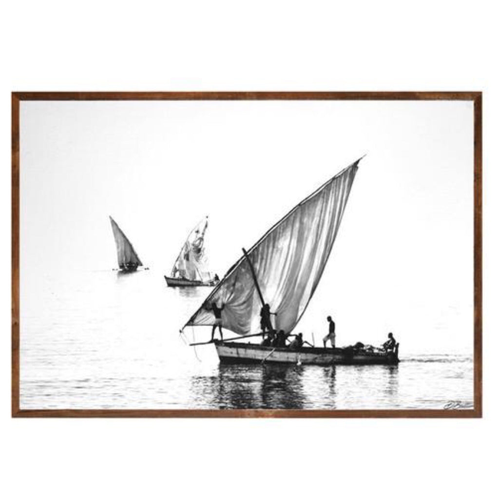 David Ballam print Mozambique Isla 28 Africa timber frame
