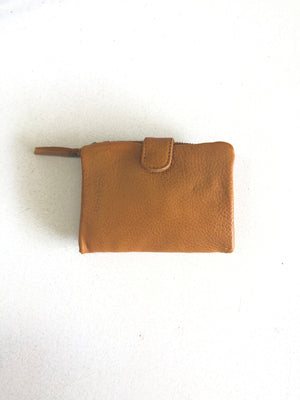 corsica leather wallet sticks and stones ochre