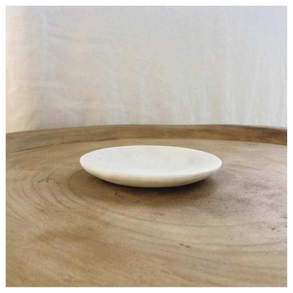 round marble dish soap tapas ring