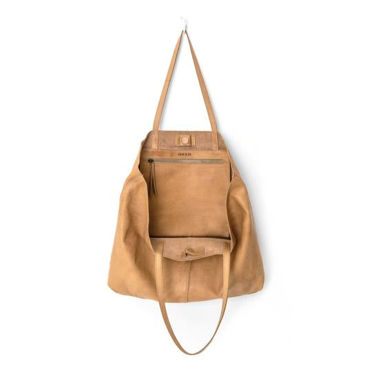 unlined leather tote bag natural juju and co
