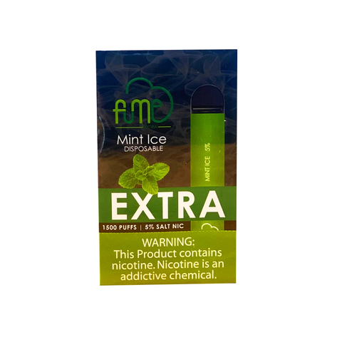 Wholesale FUME Extra Disposables - Mint Ice (1500 puff) 12pcs Box