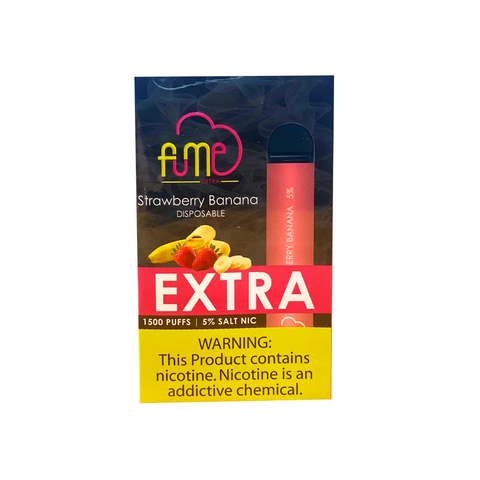 Wholesale FUME Extra Disposables - Strawberry Banana (1500 puff) 12pcs Box