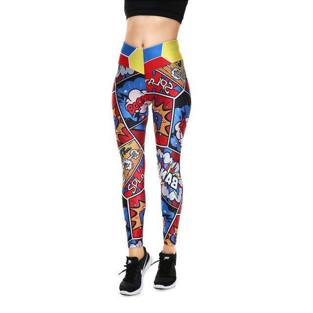 Point d'Exclamation  - Leggings - Femmes - Sport- Gym - Jogging - Yoga - Zumba