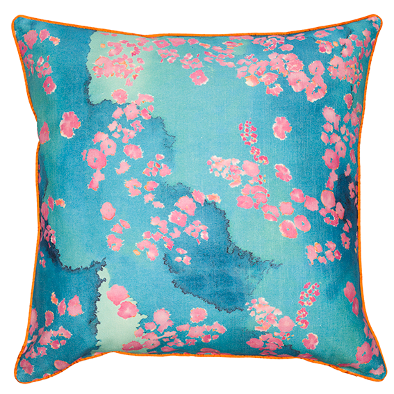 Pink Coral linen cotton Reef Cushion