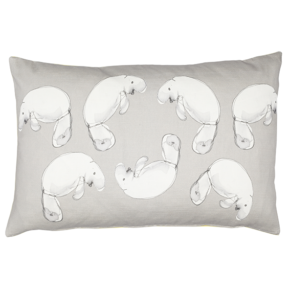 Grey Dugong linen cotton Cushion