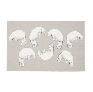 Tea Towel with Dugong print